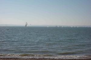 View from beach hut