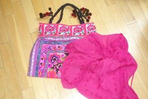 Handbag and blouse