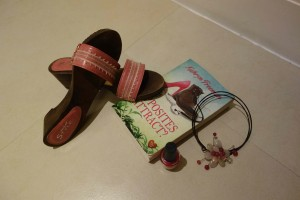 Shoes and book