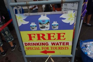 Water for tourists