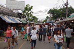 weekend market bustle