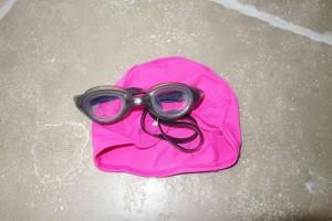 Swim hat and goggles