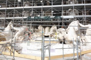 Trevi with scaffolding