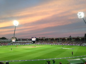 T20 blast finals day at Edgbaston. It started at 11 am with the first semi-final. It ended at 10pm when Lancashire won the final. That's a lot of cricket.