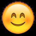 Emoji smiling blushing