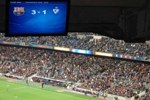 Camp nou half time score