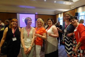 From left to right: Berni Stevens (author and cover designer), Sarah Waights, AnneMarie Brear, Alison May, Kate Johnson, Laura James