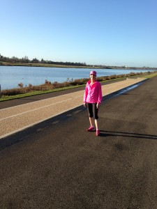 Proof - me after running round Dorney Lake over Christmas holidays. Taken from a distance so you can't see the pain etched on my face.