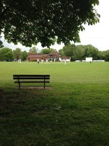 Wraysbury cricket ground bench